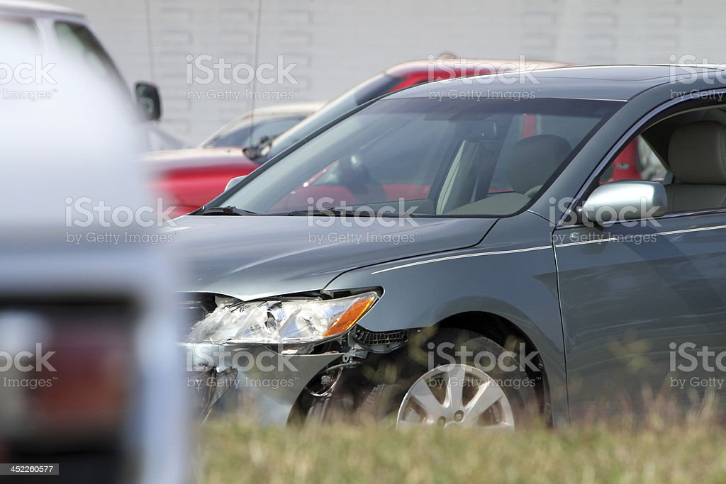Front end accident stock photo