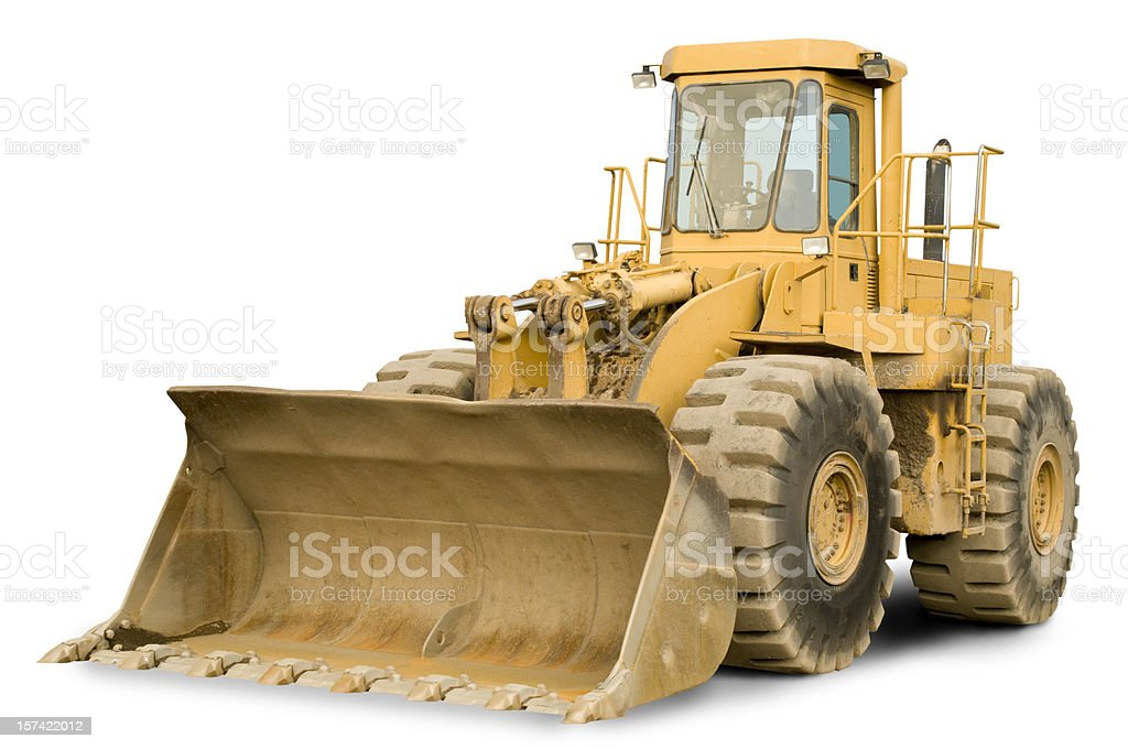 front end loader w clipping path stock photo