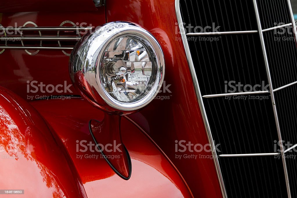 Front End of a 1935 Plymouth Coupe royalty-free stock photo