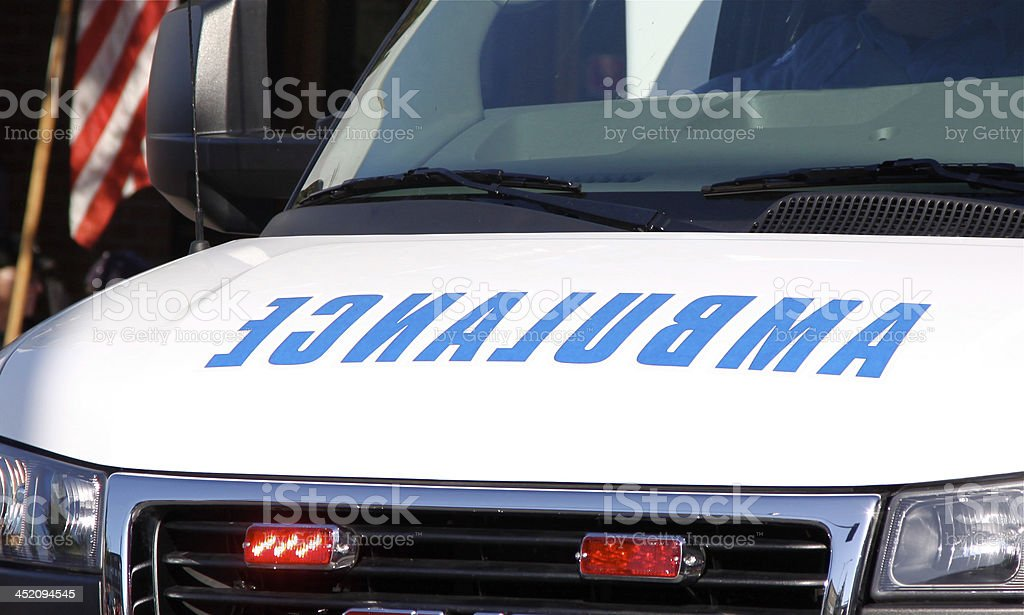 Front End Of An Ambulance stock photo