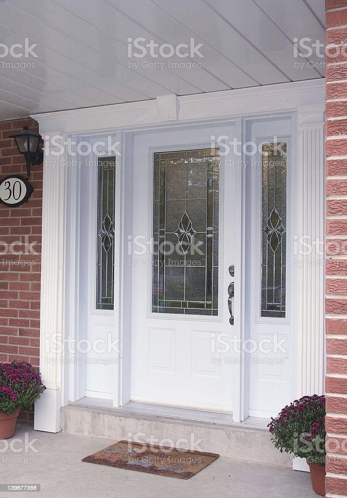 Front Entrance Door stock photo