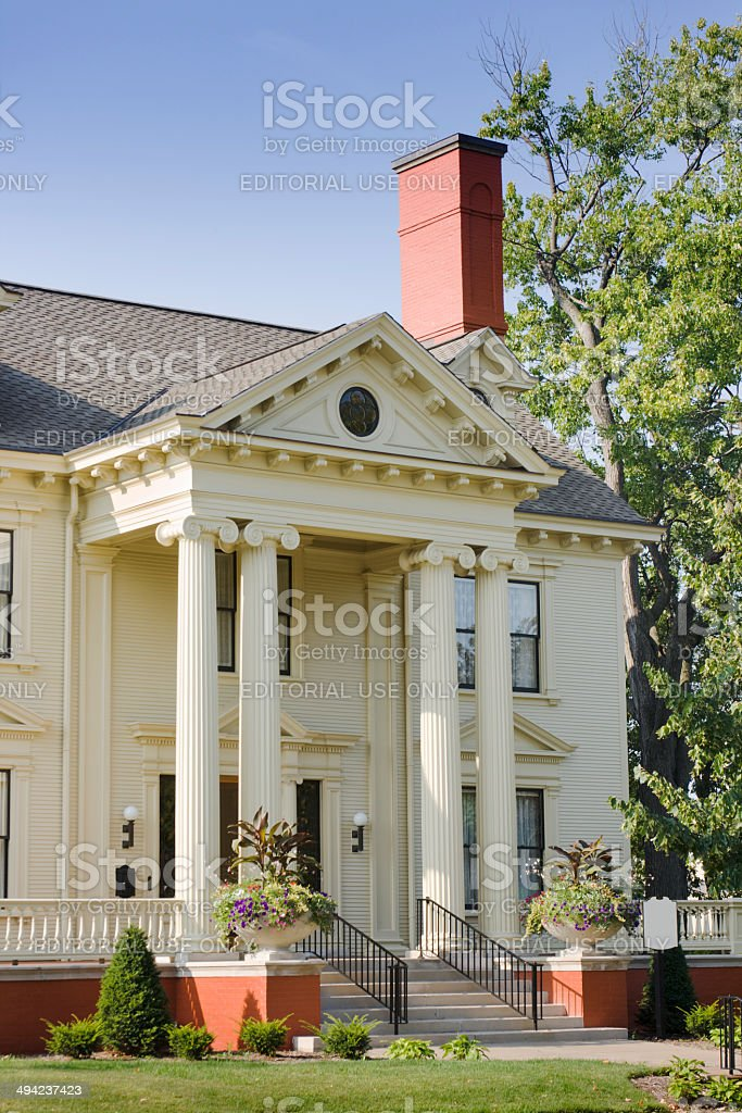 Front Entrance, Marathon County Historical Museum, Cyrus Carpenter Yawkey House stock photo