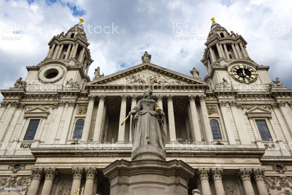 Front Entrance of St. Paul's Cathedral stock photo