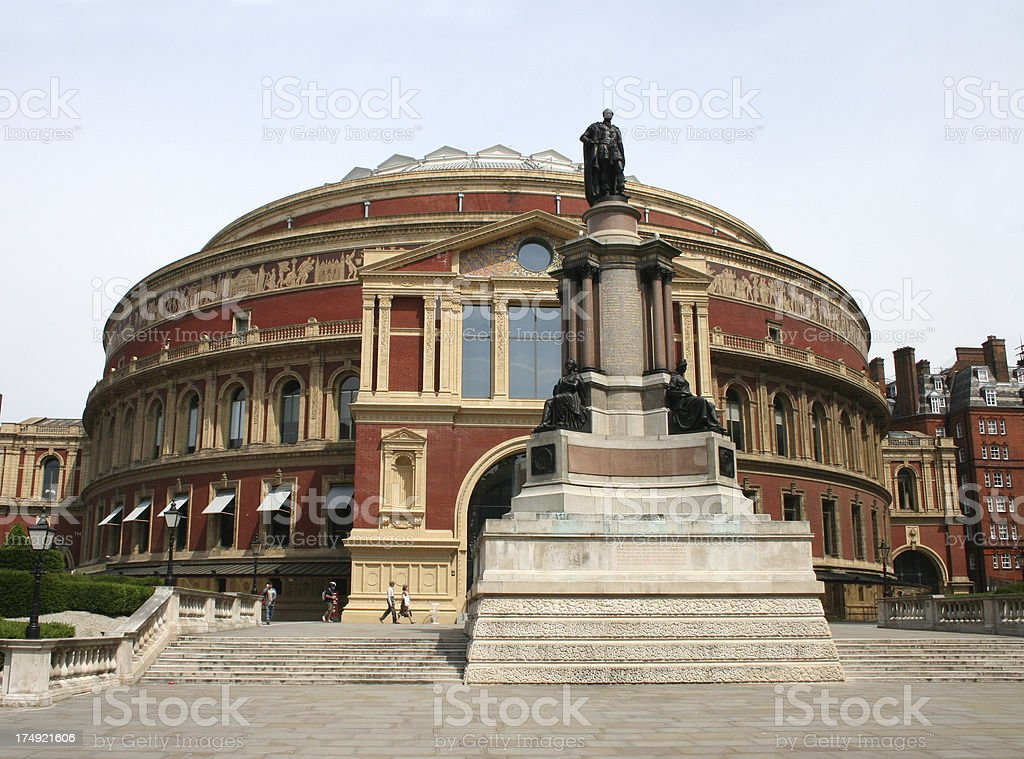 Front Entrance to The Royal Albert Hall stock photo
