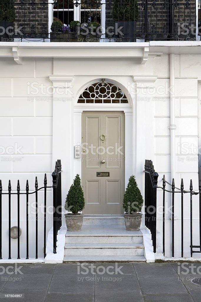 Front Entrance, West London stock photo