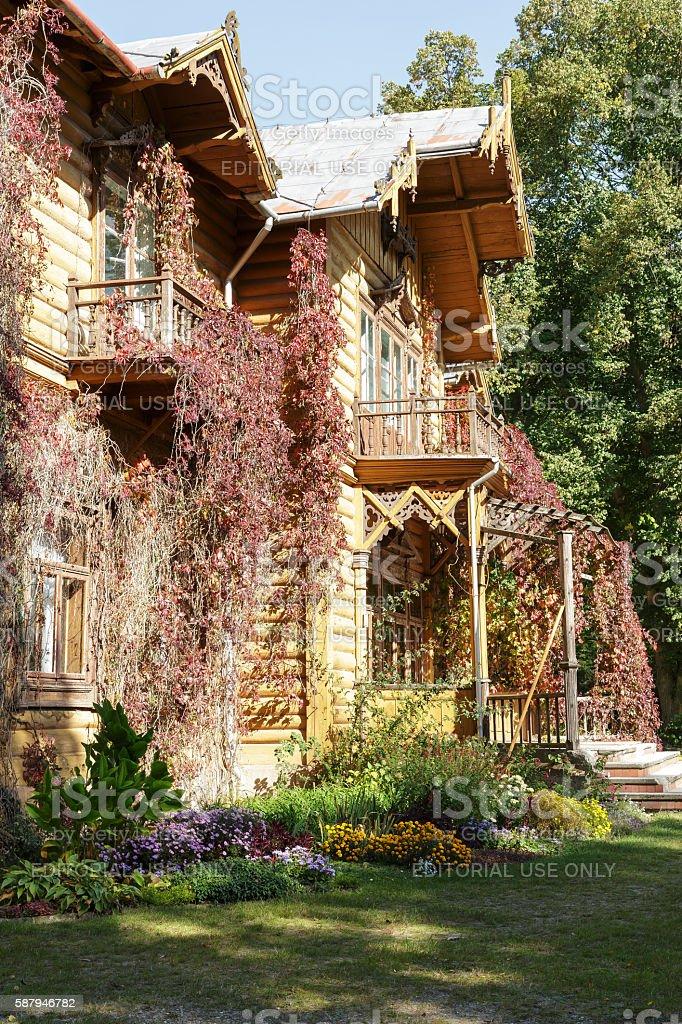 Front facade of Julin hunting palace stock photo
