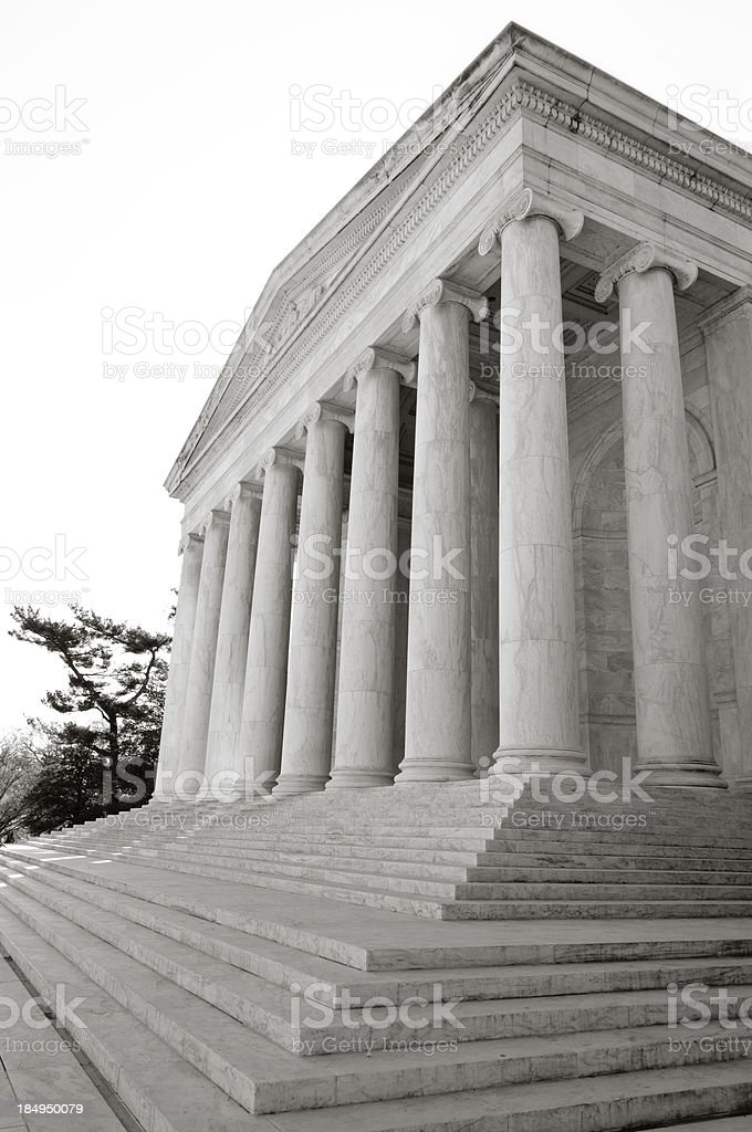 Front facade of the Jefferson Memorial royalty-free stock photo