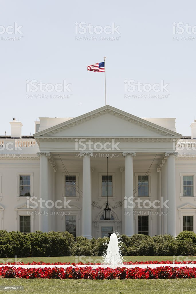 Front facade of the White House in Washington, DC -XXXL royalty-free stock photo