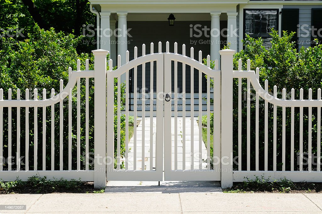 Front Gate and Fence stock photo