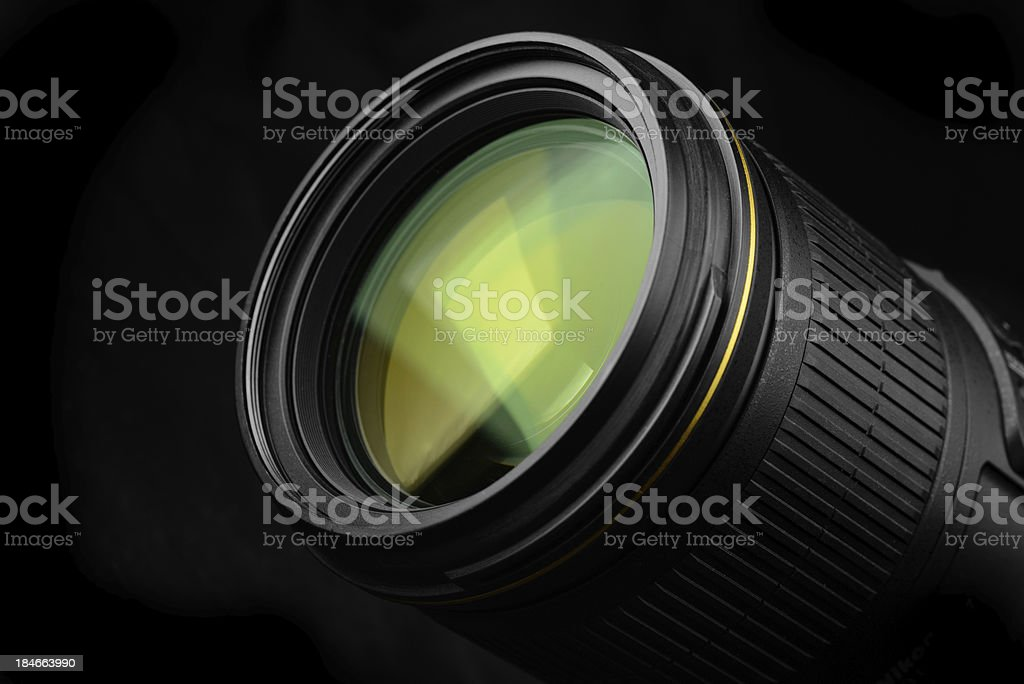 front green Lens royalty-free stock photo