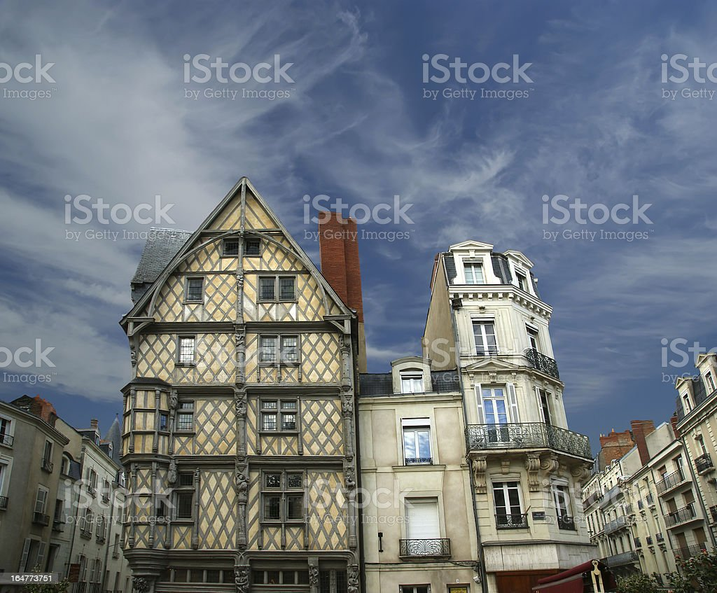 Front House of Adam, Angers, France stock photo