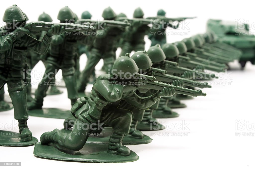 Front line of the Army royalty-free stock photo