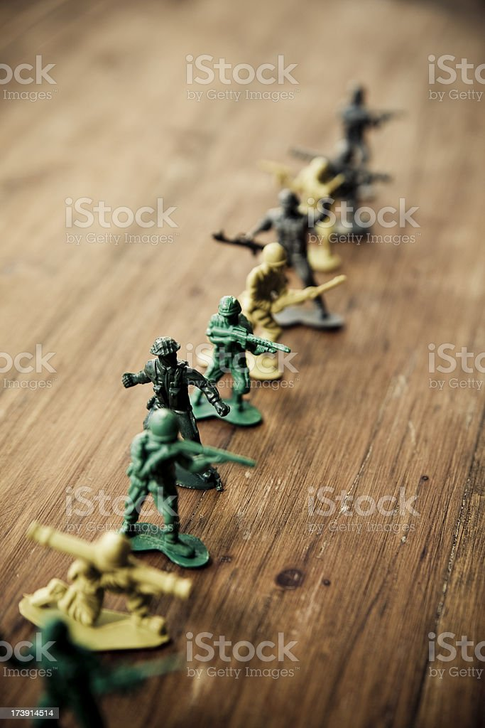 Front Line royalty-free stock photo