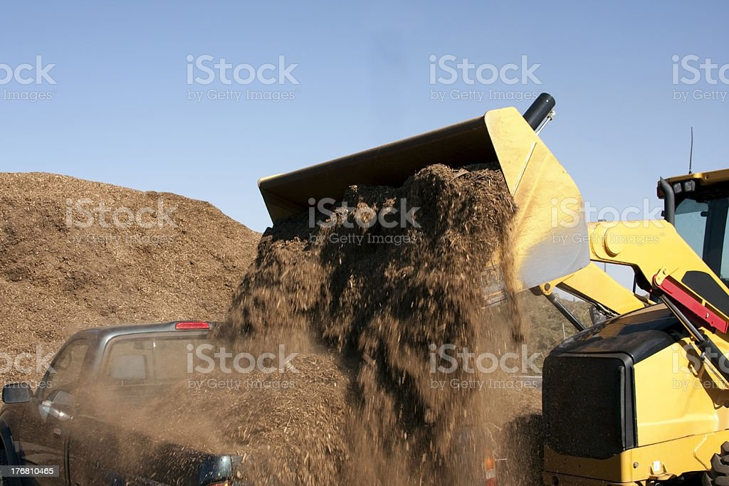 Front loader Dumping stock photo