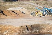 Front loader in quarry
