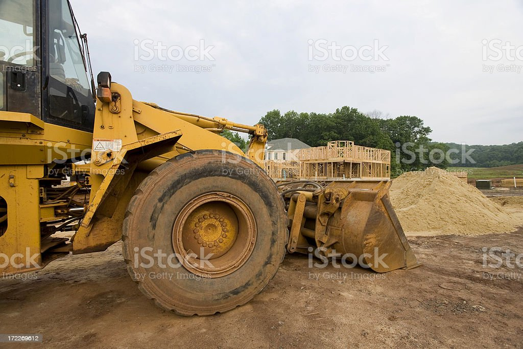Front Loader on Site stock photo