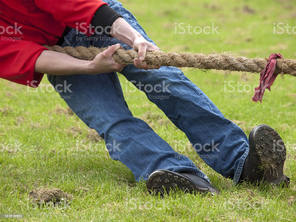 Front Man in Tug of War royalty-free stock photo