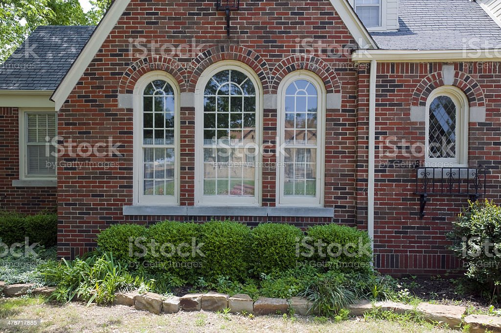 Front of a 1930's House royalty-free stock photo