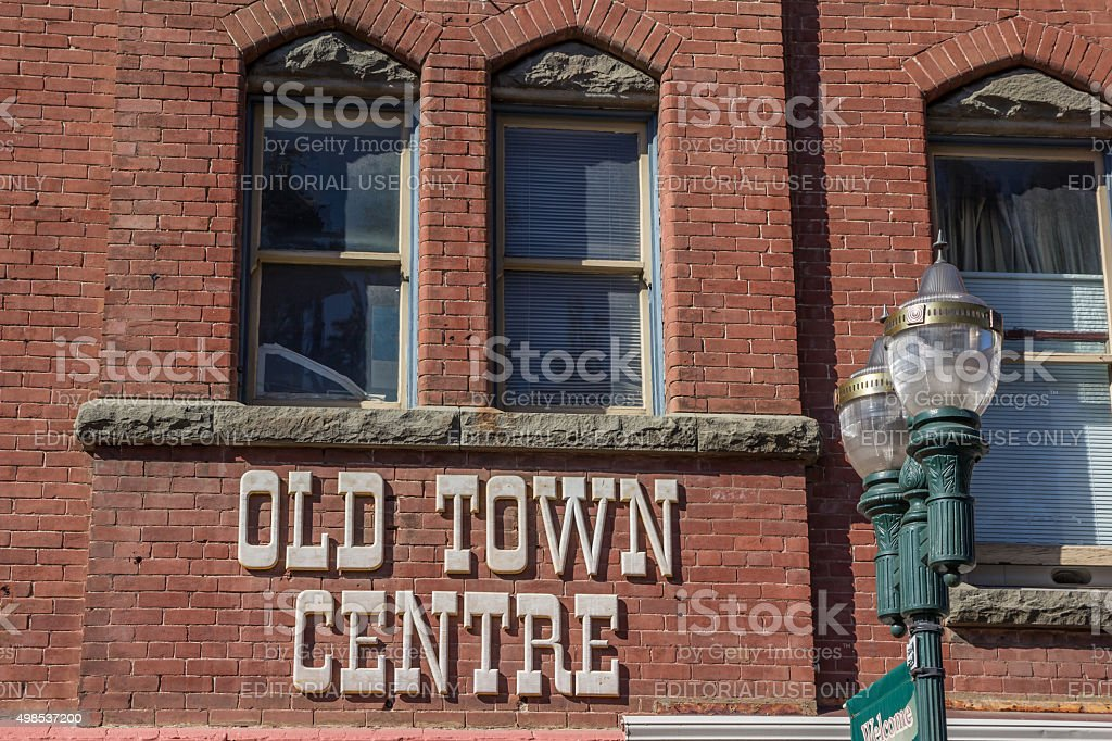 Front of a building in the old town center of Placerville stock photo