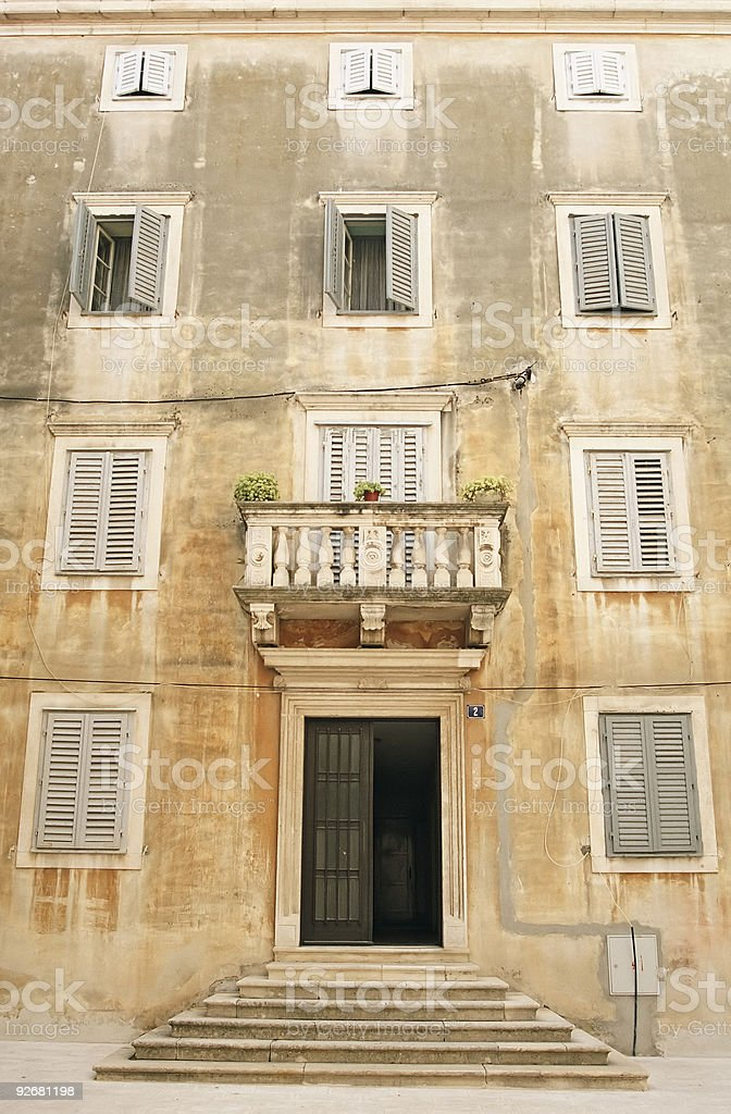 Front of a building stock photo