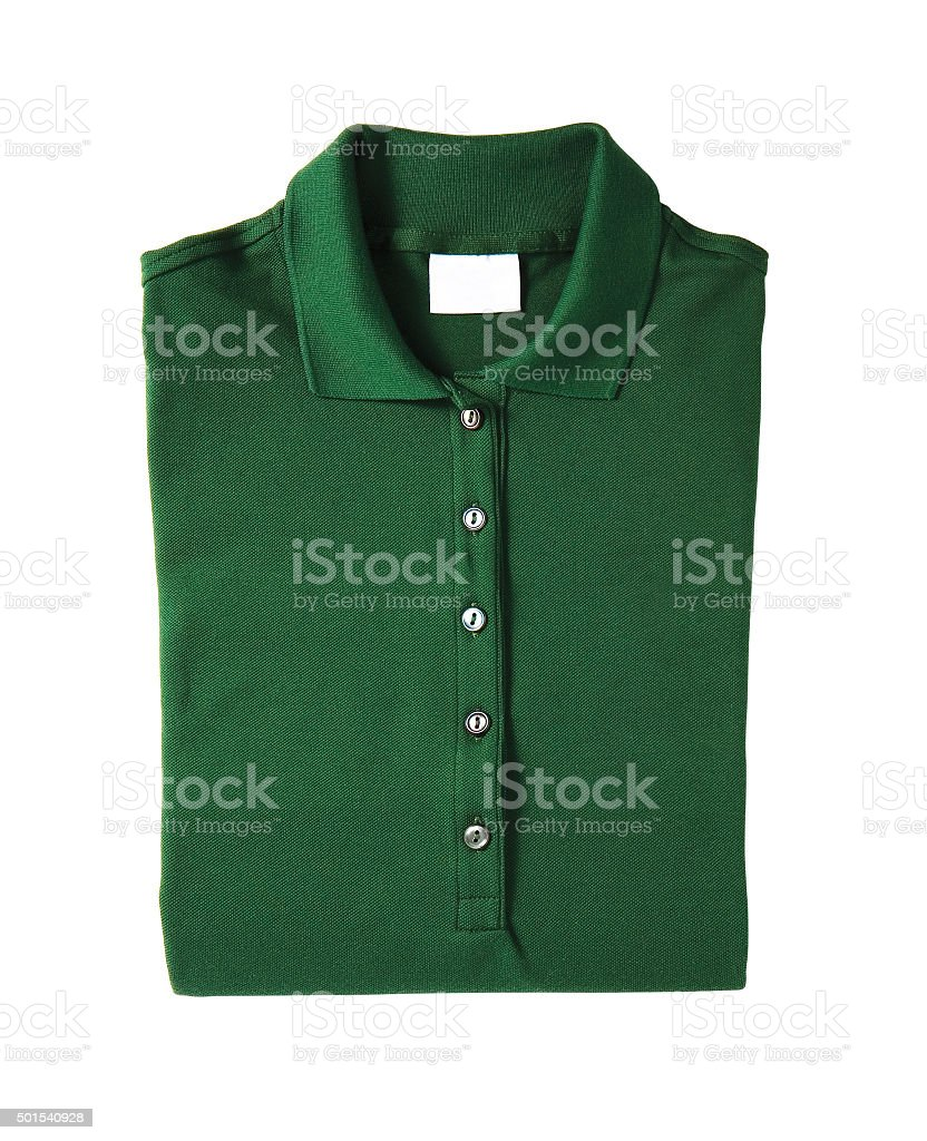 Front of a clean  polo T-Shirt stock photo