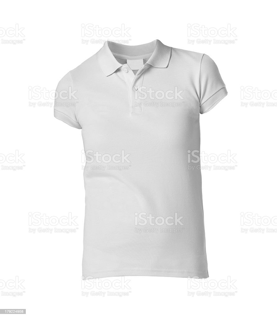 Front of a clean White T-Shirt stock photo