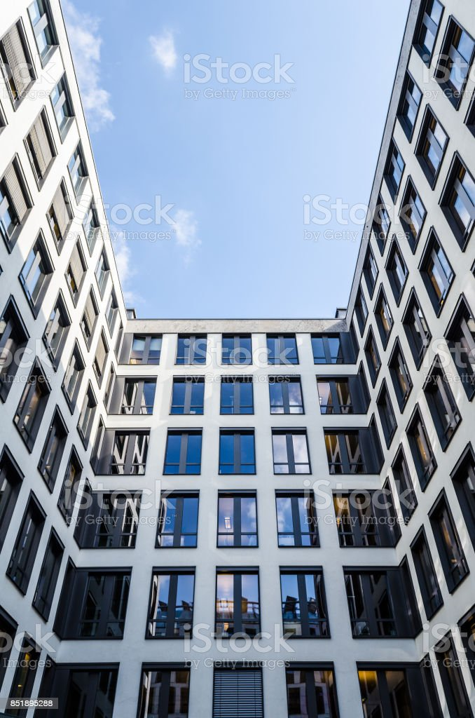 front of  a modern office building - business property stock photo