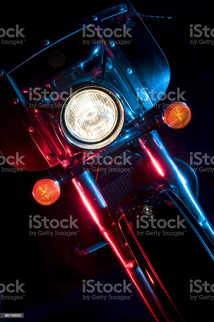 Front of a Motorcycle royalty-free stock photo