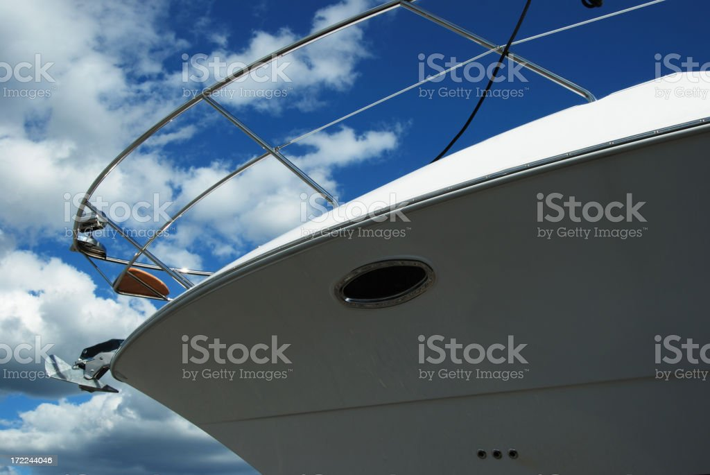 front of a yacht royalty-free stock photo