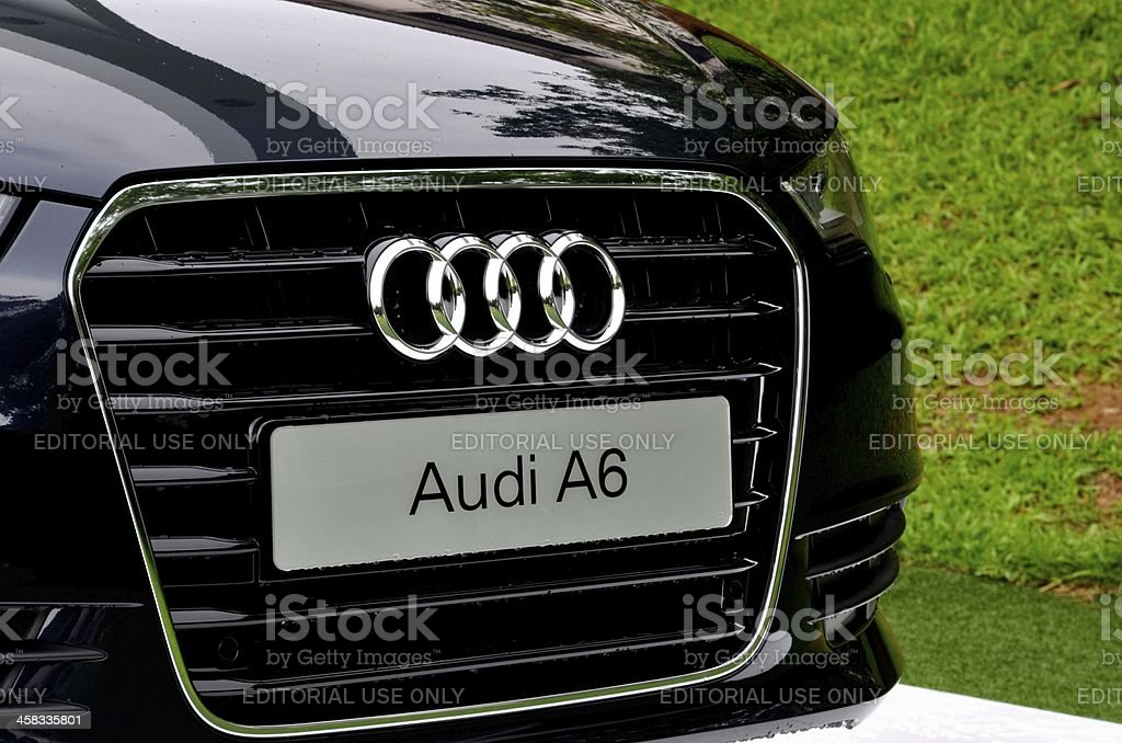 Front of Audi A6 Classic Saloon Car royalty-free stock photo