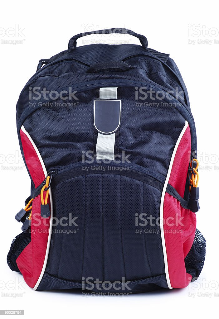 Front Of Backpack stock photo