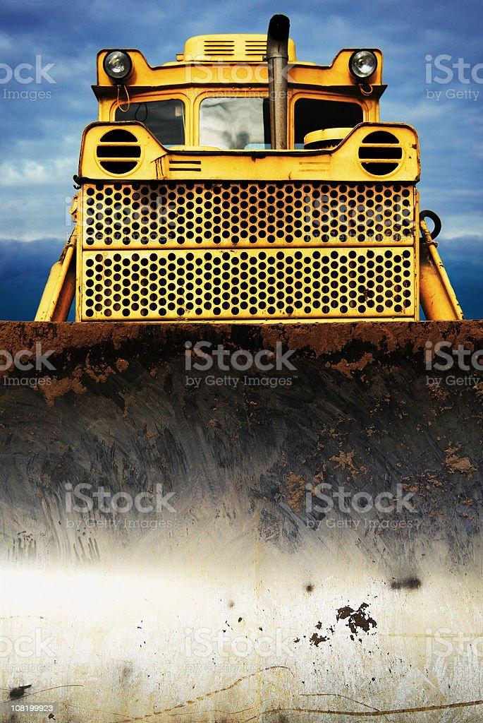 Front of bulldozer stock photo