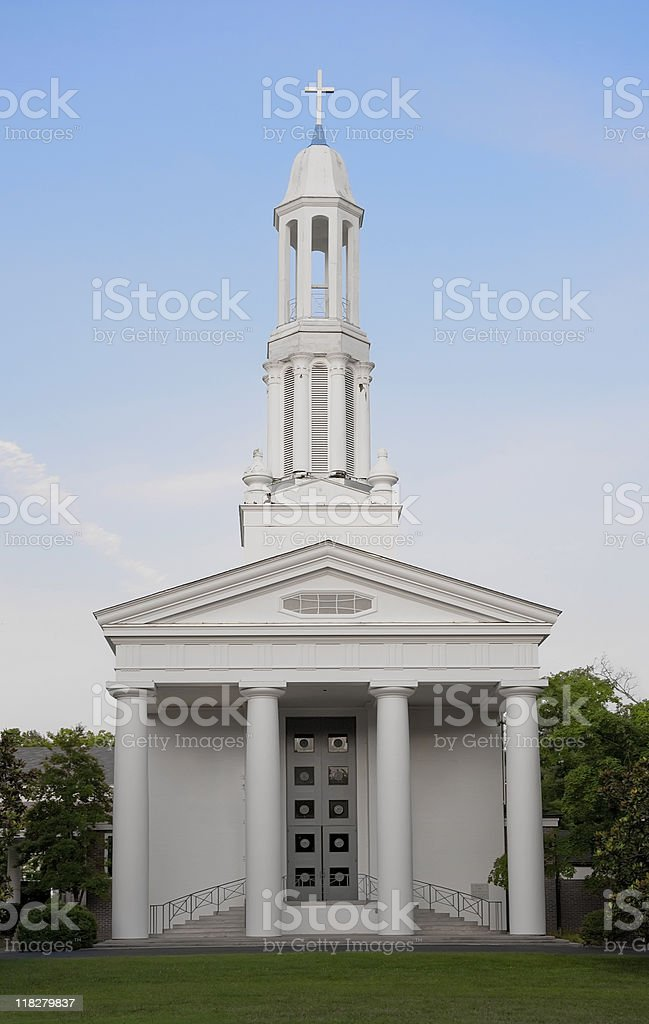 Front of Church royalty-free stock photo