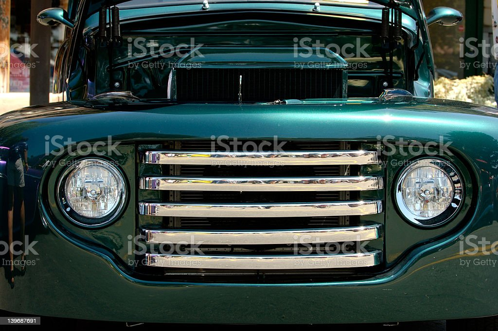 Front of collection car royalty-free stock photo