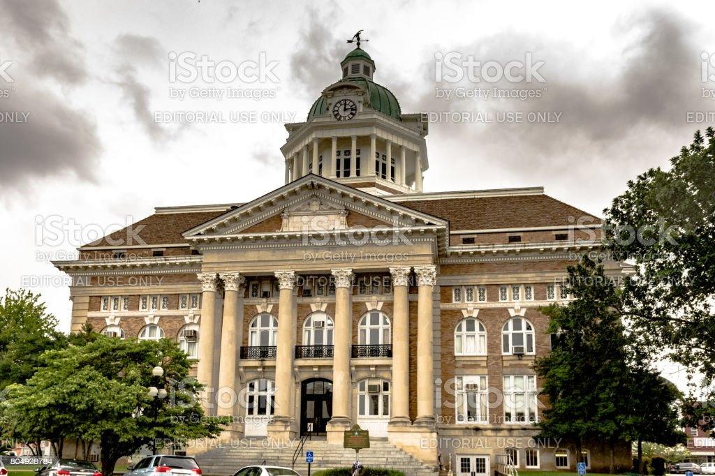 Front of Giles County Courthouse stock photo