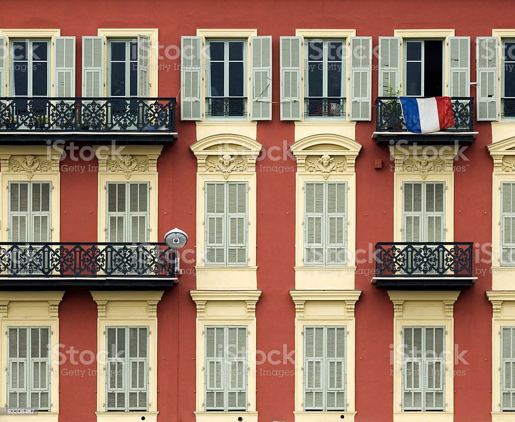 front of house in Nice royalty-free stock photo
