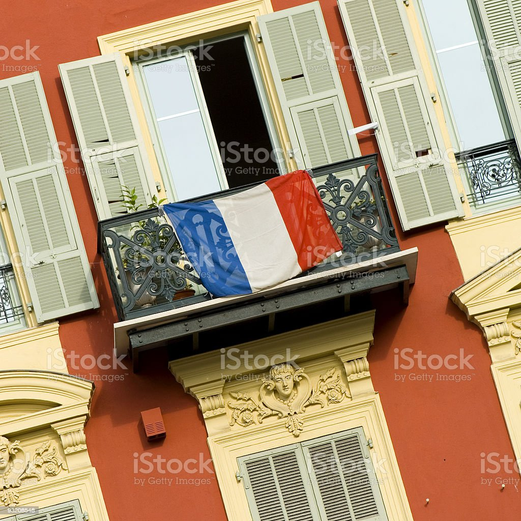 front of house in Nice stock photo