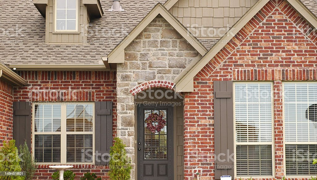 Front of Middle Class House royalty-free stock photo