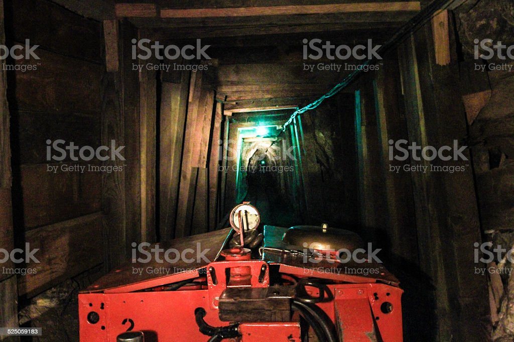 Front of Mining Train stock photo