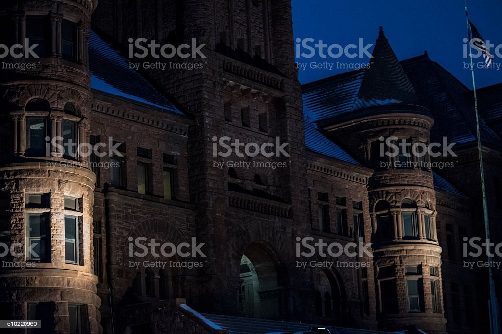 Front of old building royalty-free stock photo