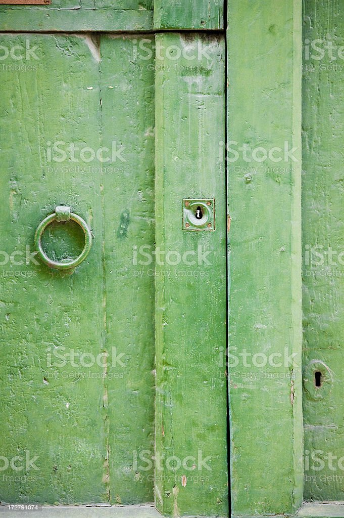front of old door royalty-free stock photo