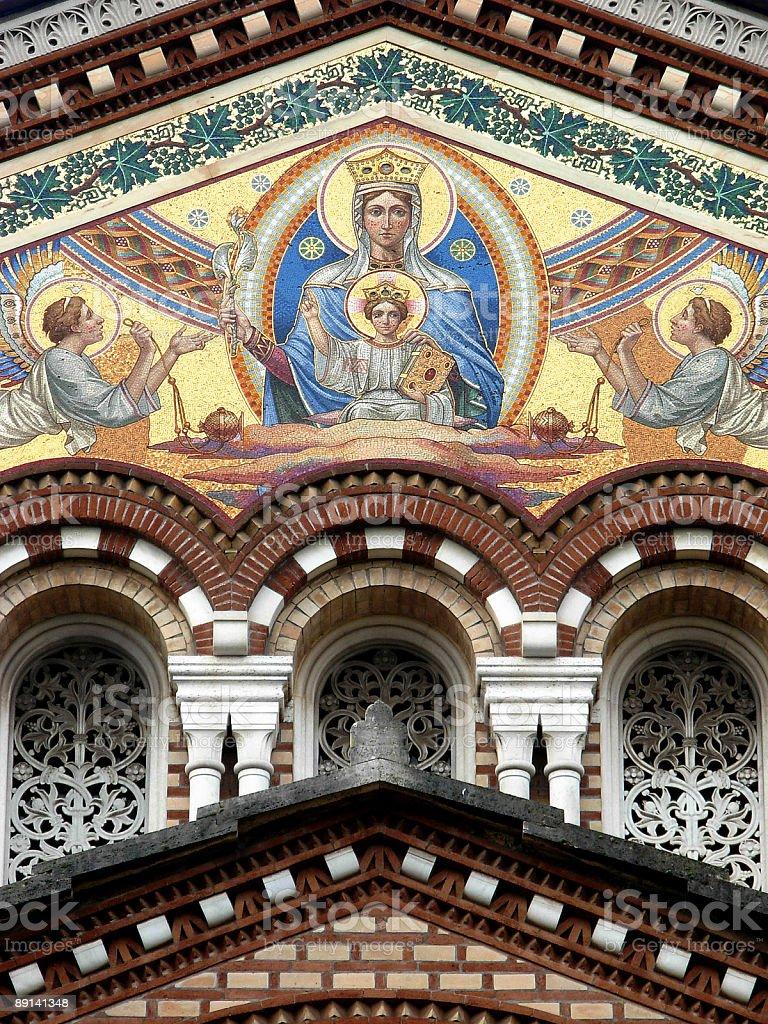 Front of Pamphili family chapel royalty-free stock photo