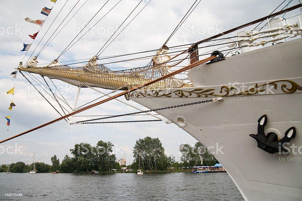 front of sailing ship royalty-free stock photo