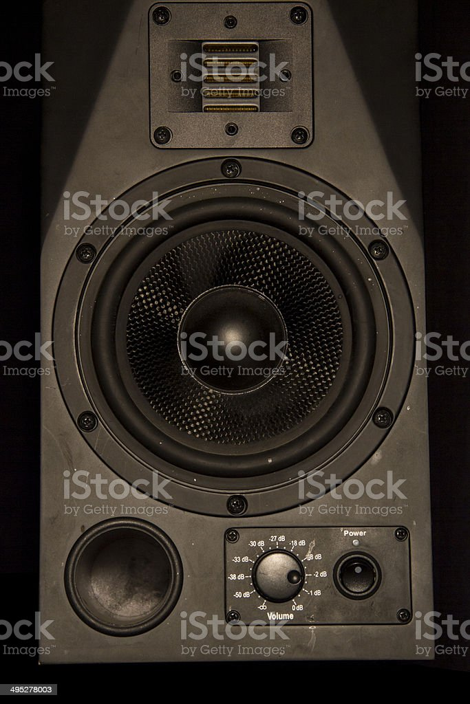 Front of Speaker stock photo