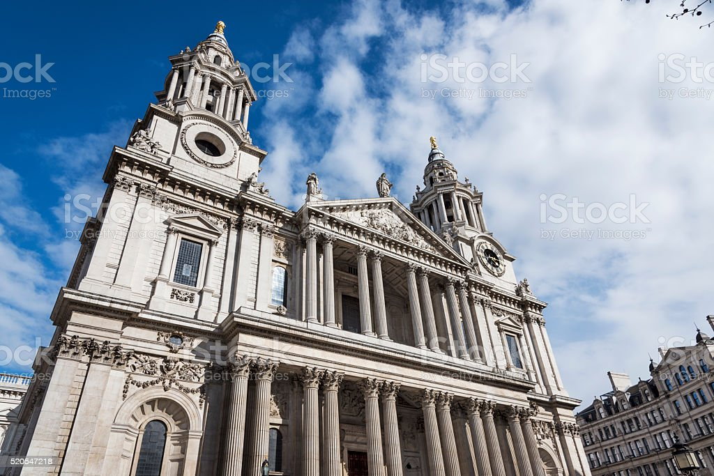 Front of St Paul's Cathedral stock photo