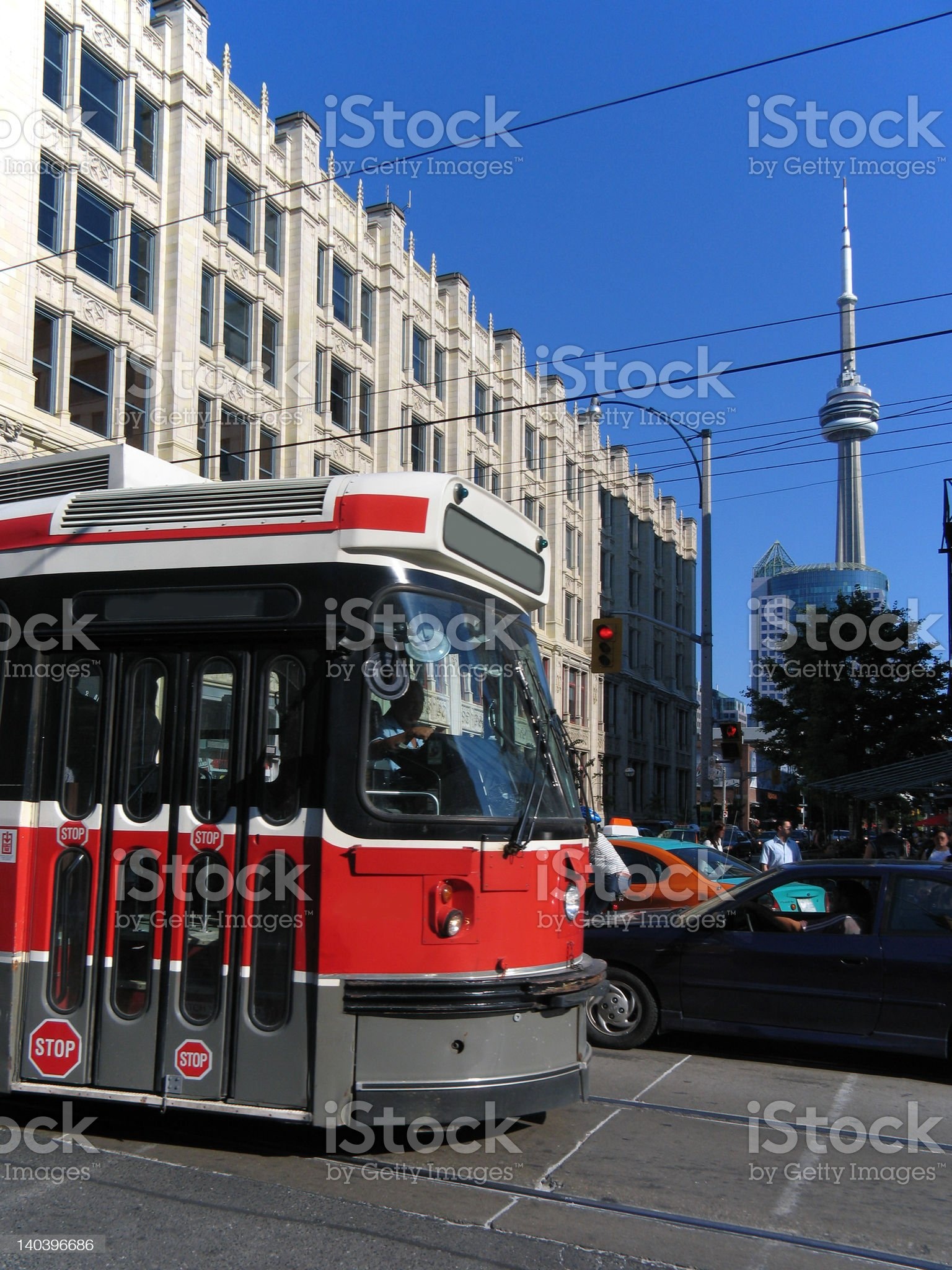 Front of streetcar, Toronto royalty-free stock photo