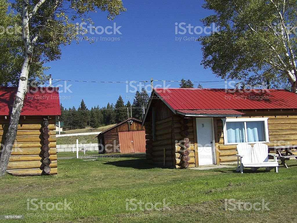 Front of summer cabin royalty-free stock photo