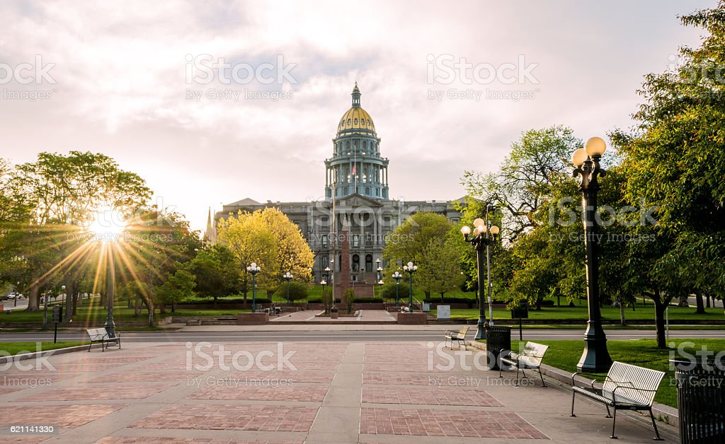 Front of the Colorado capital building stock photo