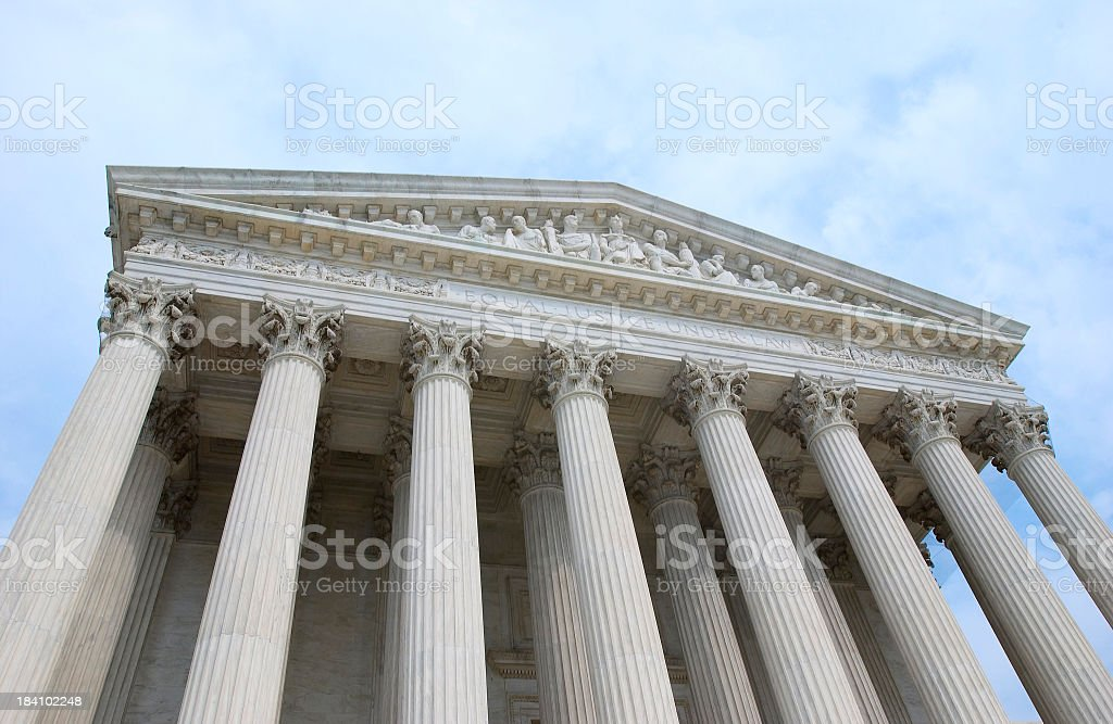 Front of the Supreme Court Building stock photo