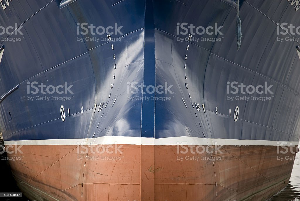 Front of Trawler stock photo